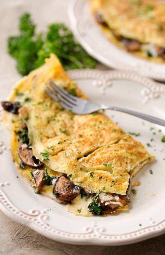 cheesy-mushroom-spinach-omelet-6